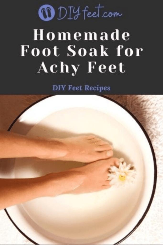 Homemade Foot Soak for Achy Feet